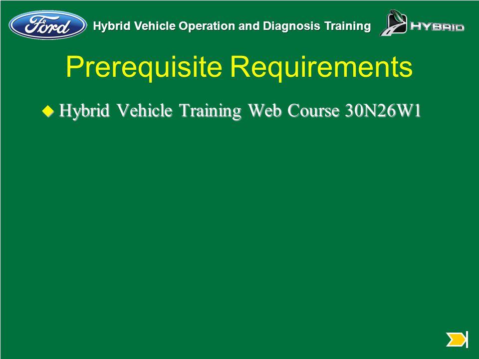 Prerequisite Requirements
