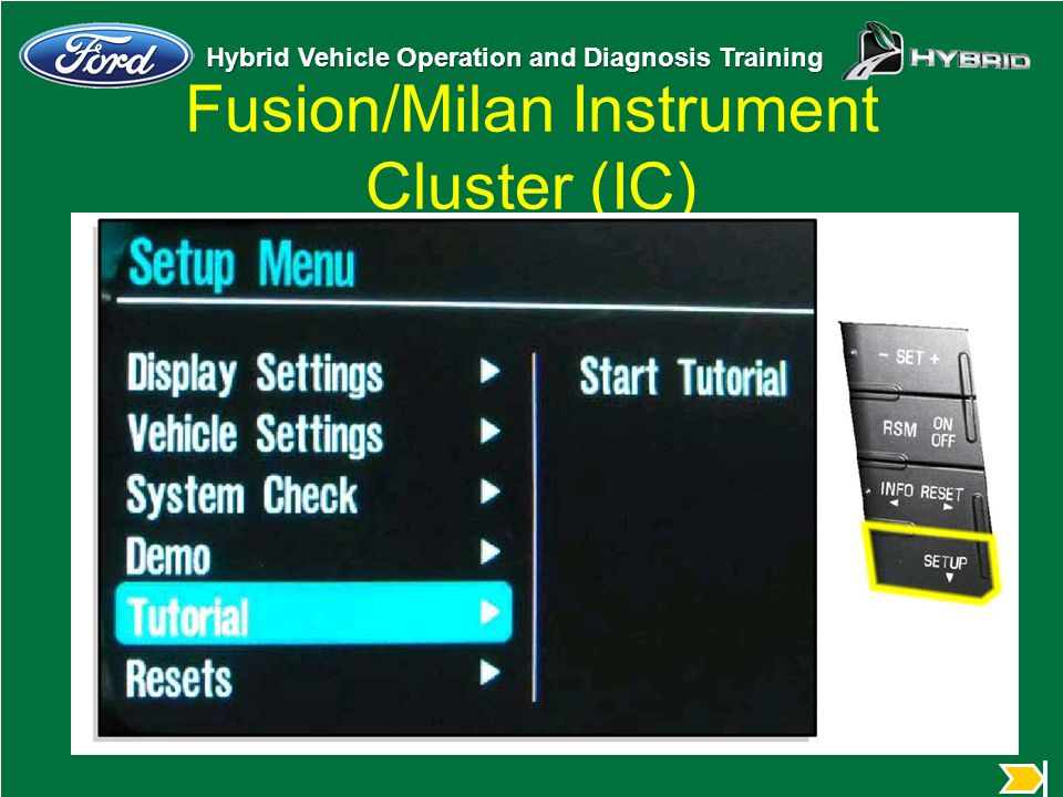 Fusion/Milan Instrument Cluster (IC)