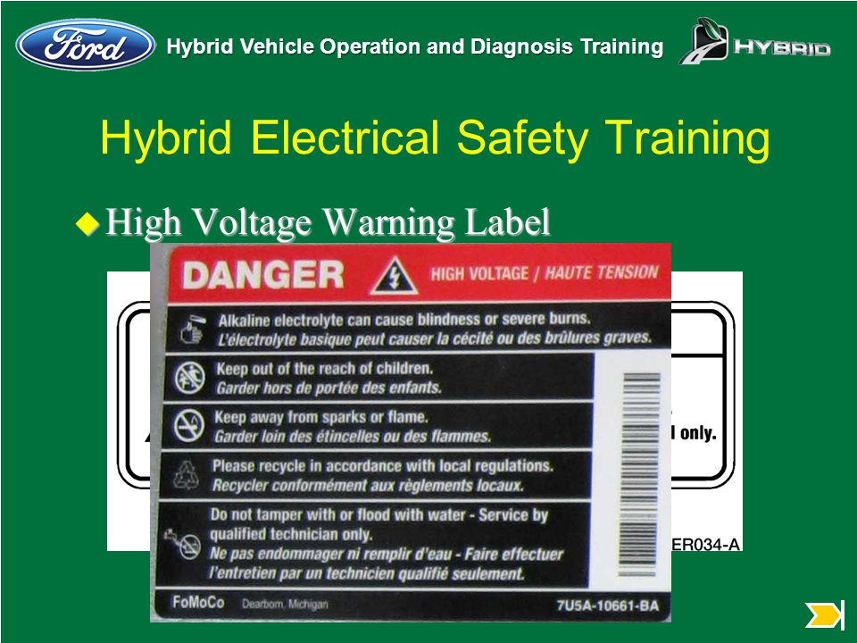 Hybrid Electrical Safety Training