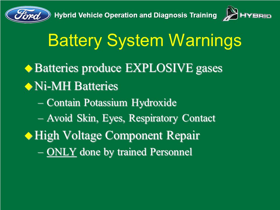 Battery System Warnings