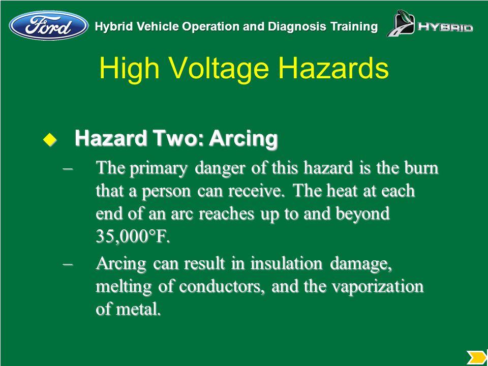 High Voltage Hazards Hazard Two: Arcing