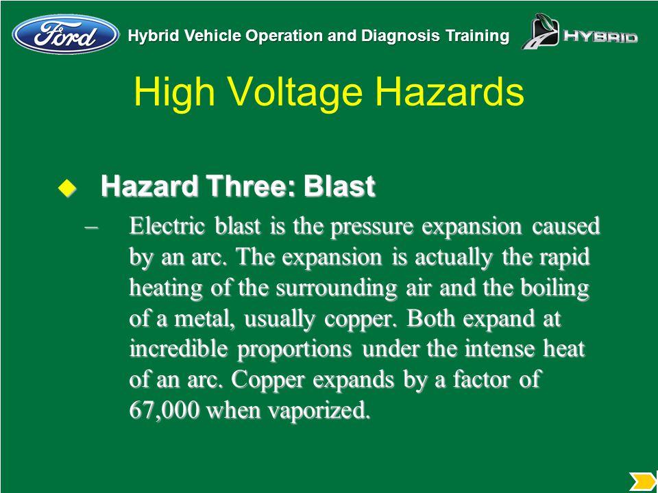 High Voltage Hazards Hazard Three: Blast