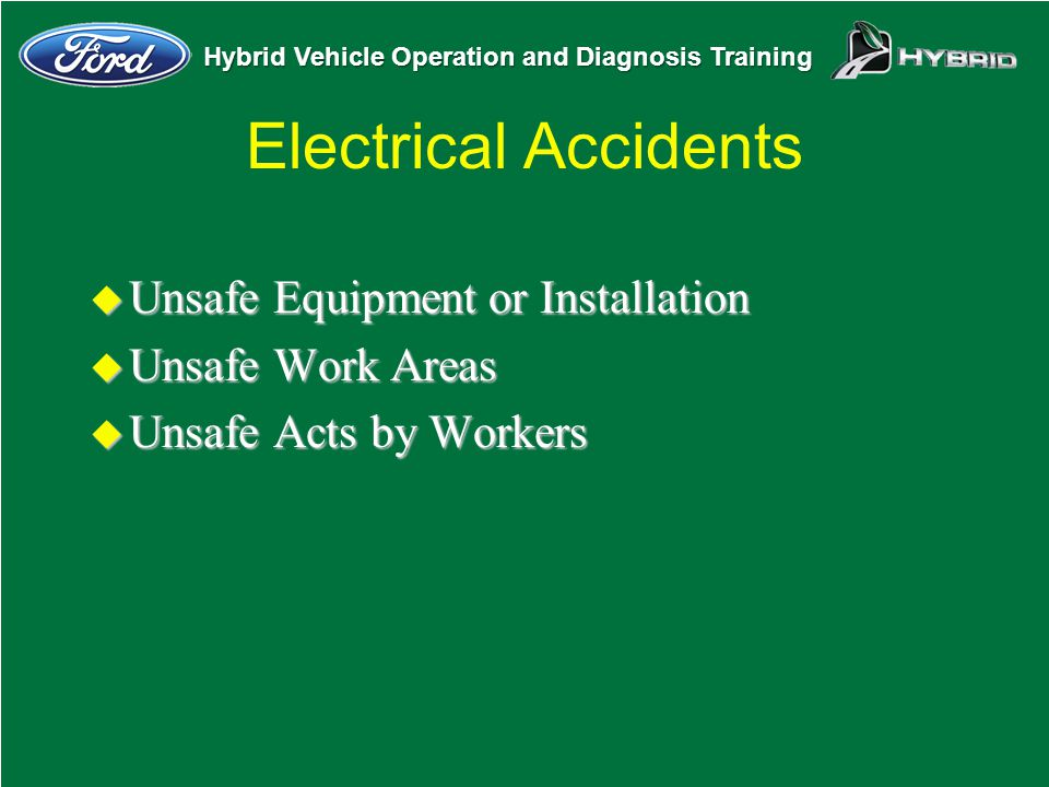 Electrical Accidents Unsafe Equipment or Installation