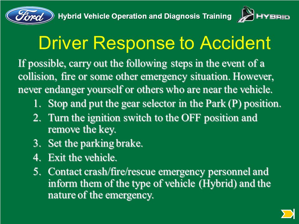 Driver Response to Accident
