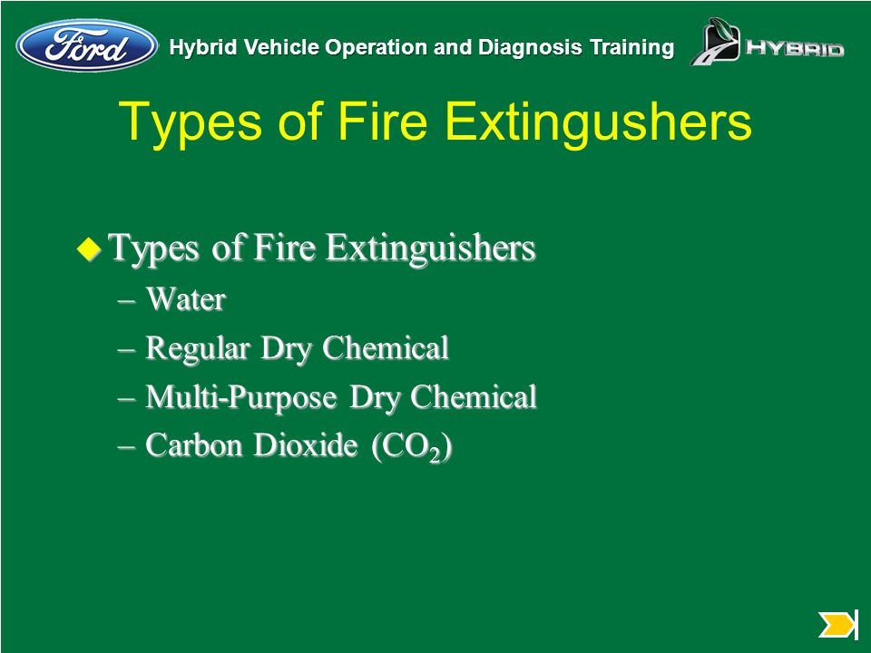 Types of Fire Extingushers