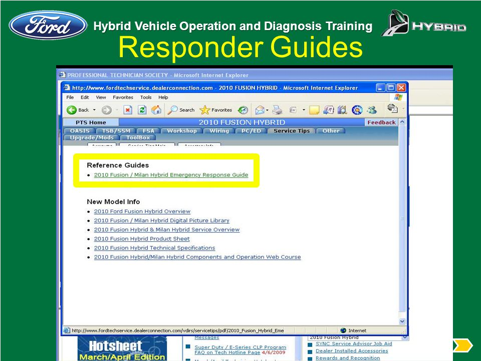 Responder Guides From the popup box select the Emergency Responder Guide