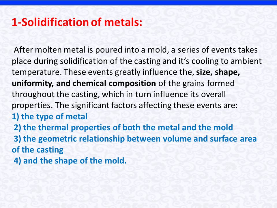 1-Solidification of metals: