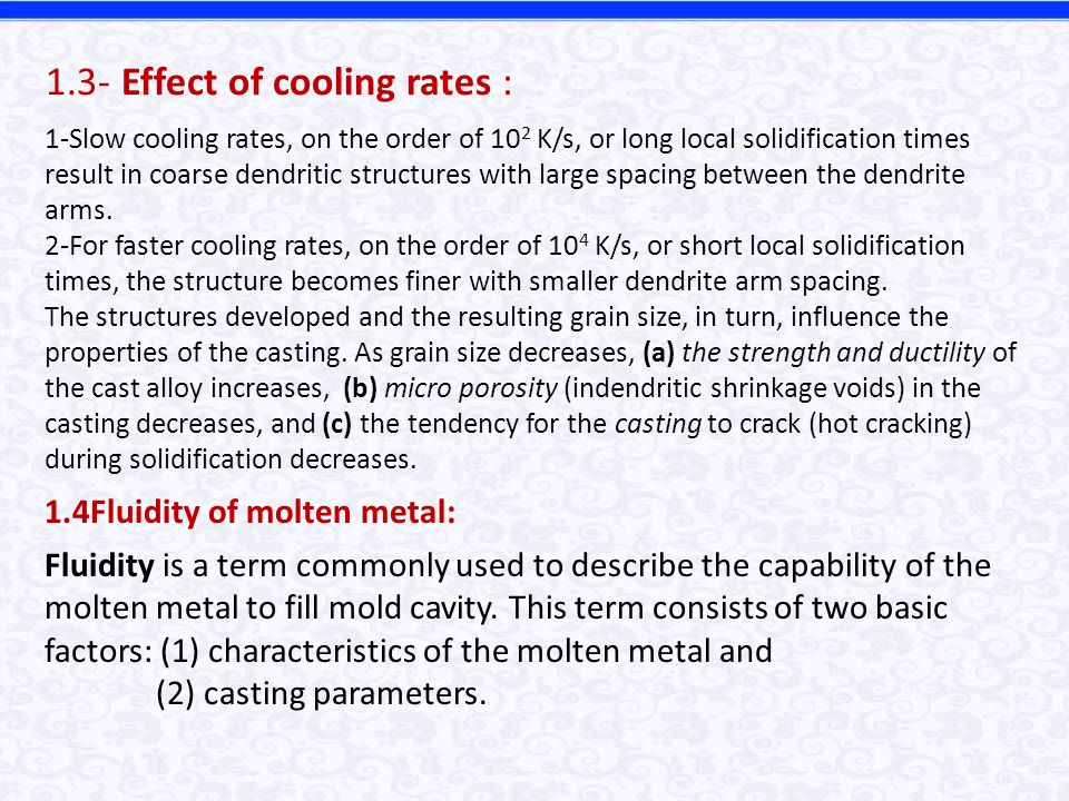 1.3- Effect of cooling rates :
