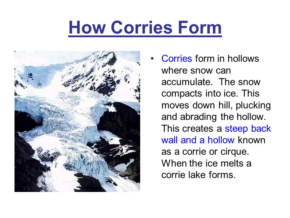 How Corries Form