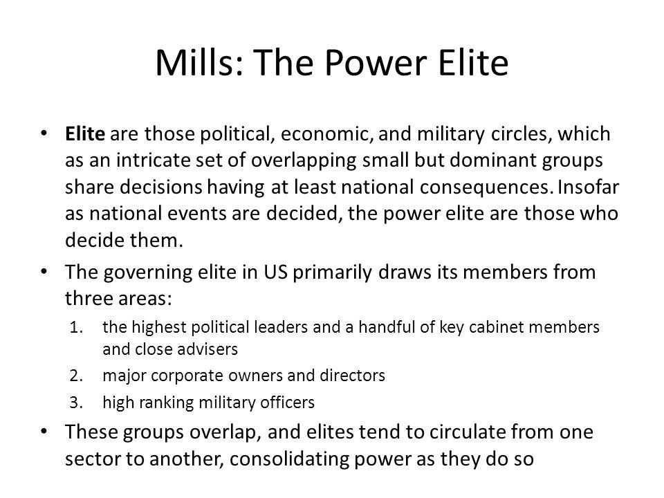 Mills: The Power Elite