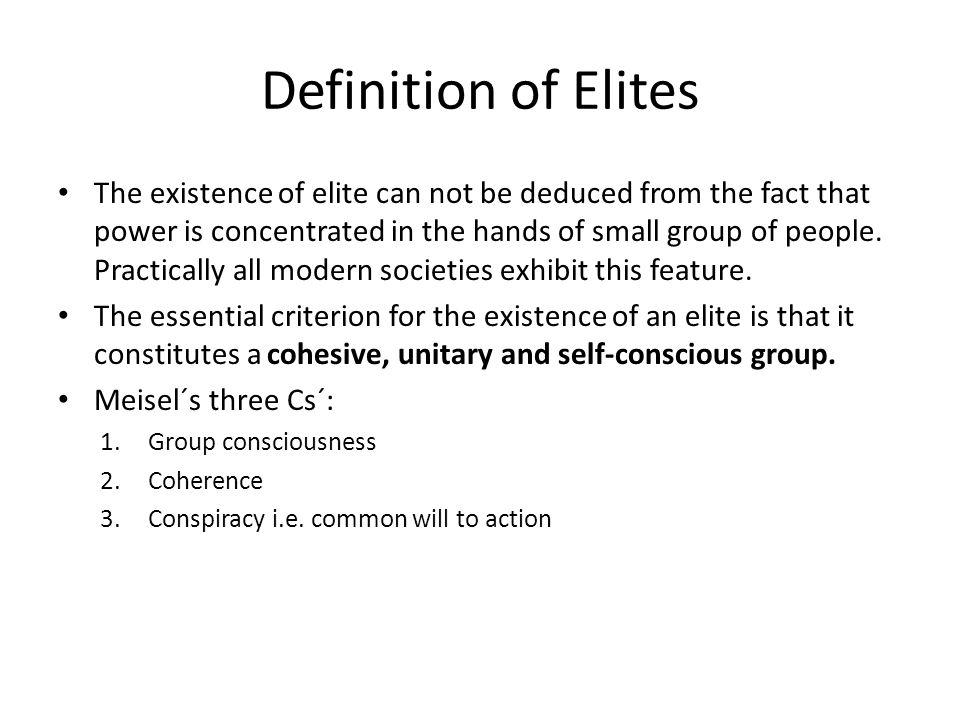 Definition of Elites