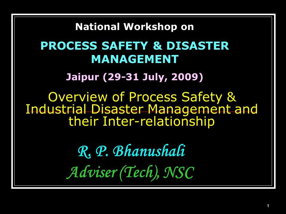 R. P. Bhanushali Adviser (Tech), NSC