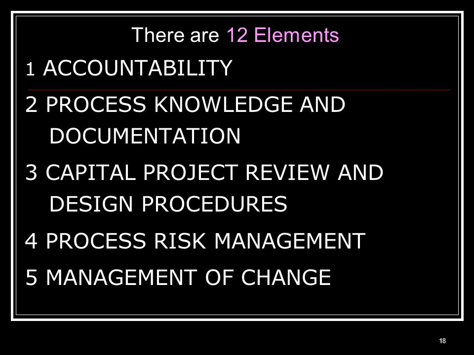 2 PROCESS KNOWLEDGE AND DOCUMENTATION