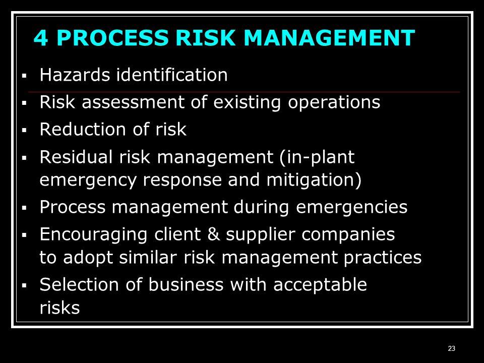 4 PROCESS RISK MANAGEMENT