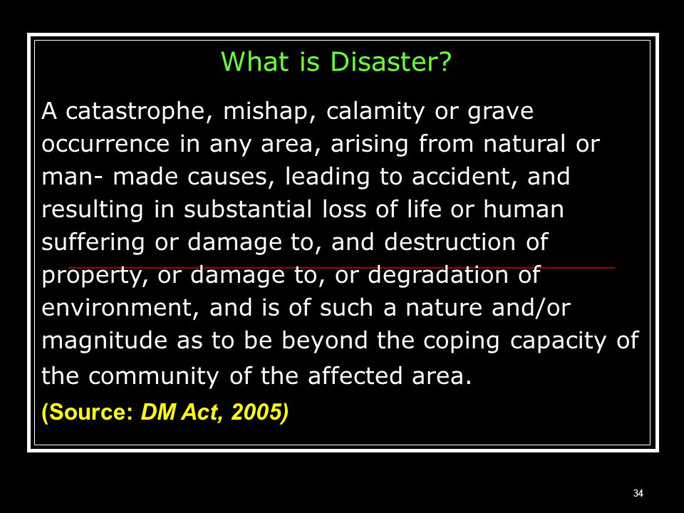 What is Disaster