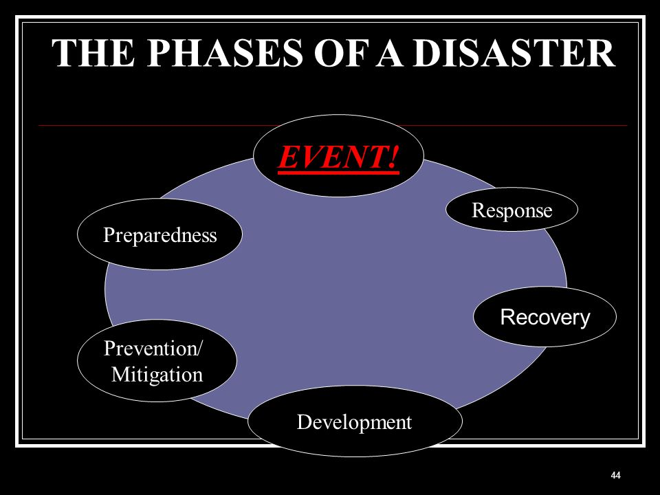 THE PHASES OF A DISASTER