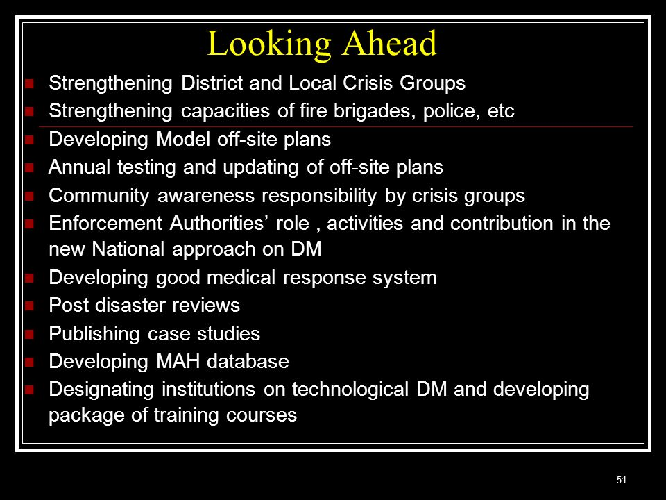 Looking Ahead Strengthening District and Local Crisis Groups