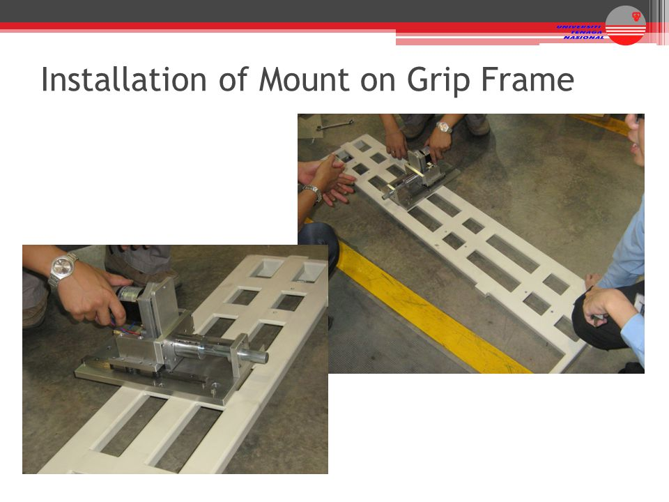 Installation of Mount on Grip Frame
