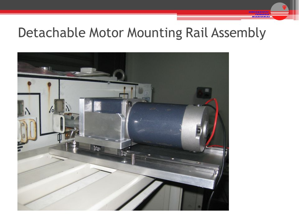 Detachable Motor Mounting Rail Assembly