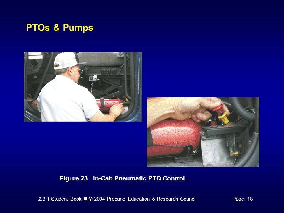PTOs & Pumps Figure 23. In-Cab Pneumatic PTO Control