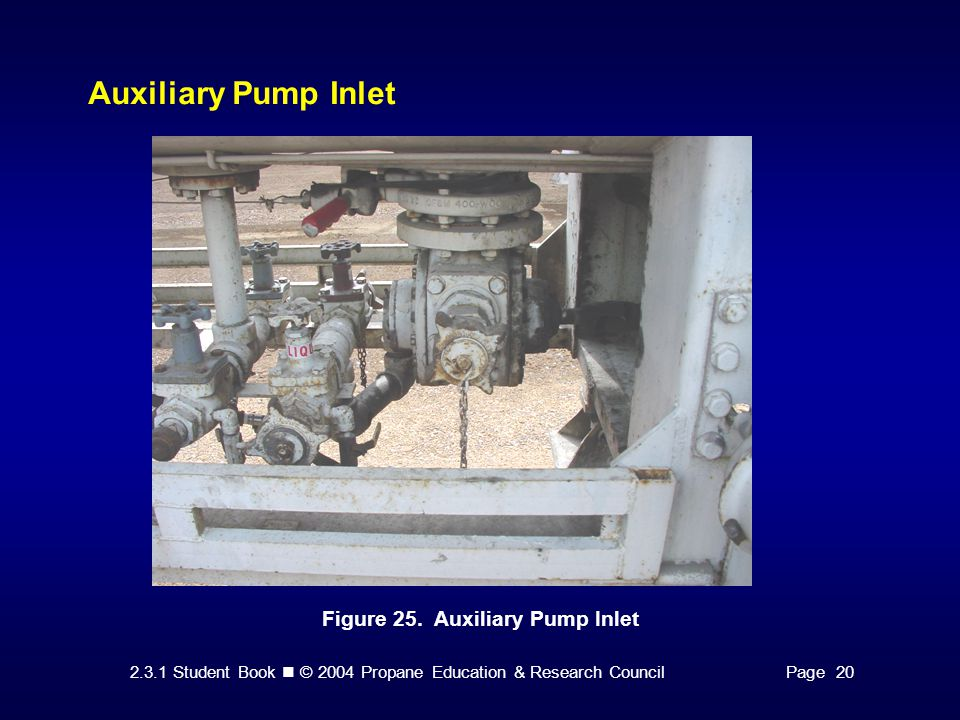 Auxiliary Pump Inlet Figure 25. Auxiliary Pump Inlet