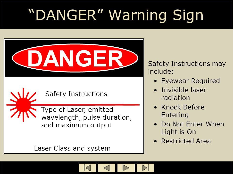 DANGER DANGER Warning Sign Safety Instructions may include: