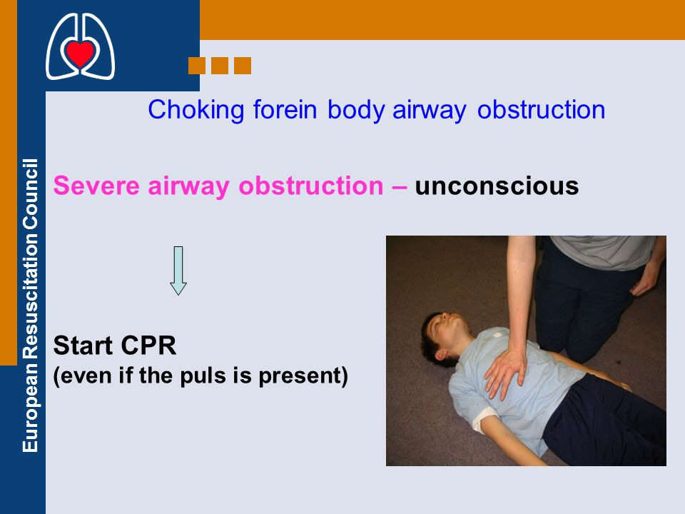 Choking forein body airway obstruction