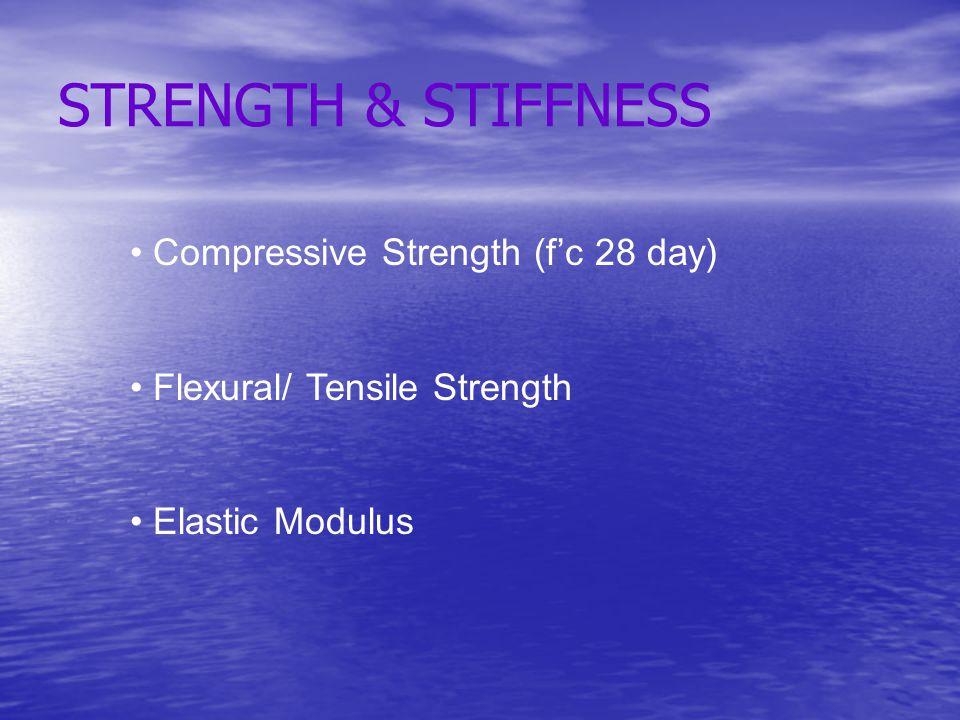 STRENGTH & STIFFNESS Compressive Strength (f'c 28 day)