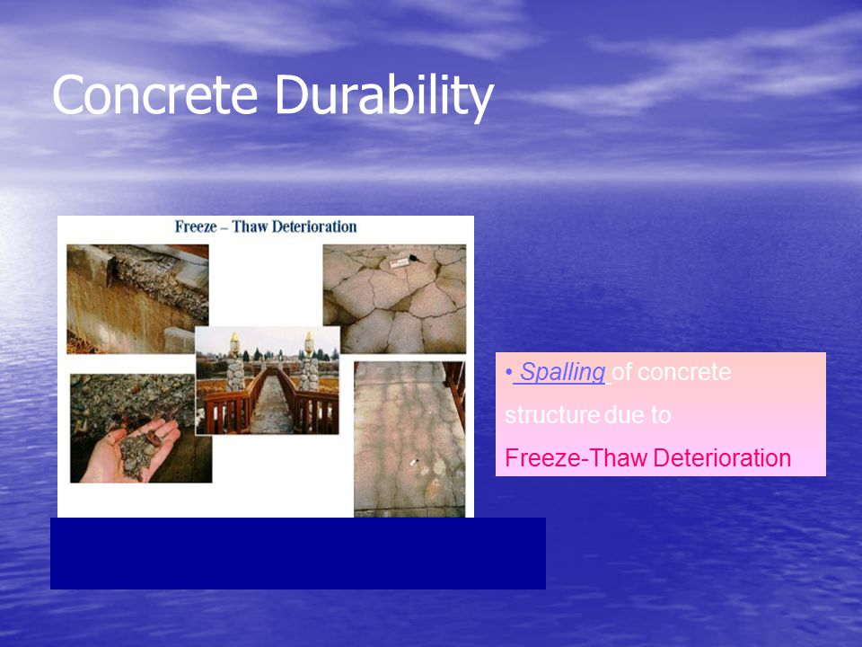 Concrete Durability Spalling of concrete structure due to