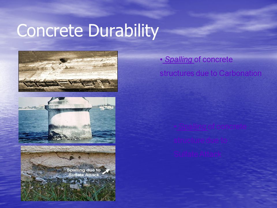Concrete Durability Spalling of concrete structures due to Carbonation