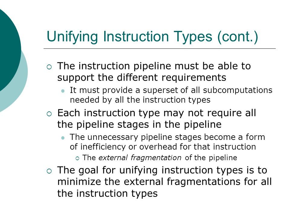 Unifying Instruction Types (cont.)