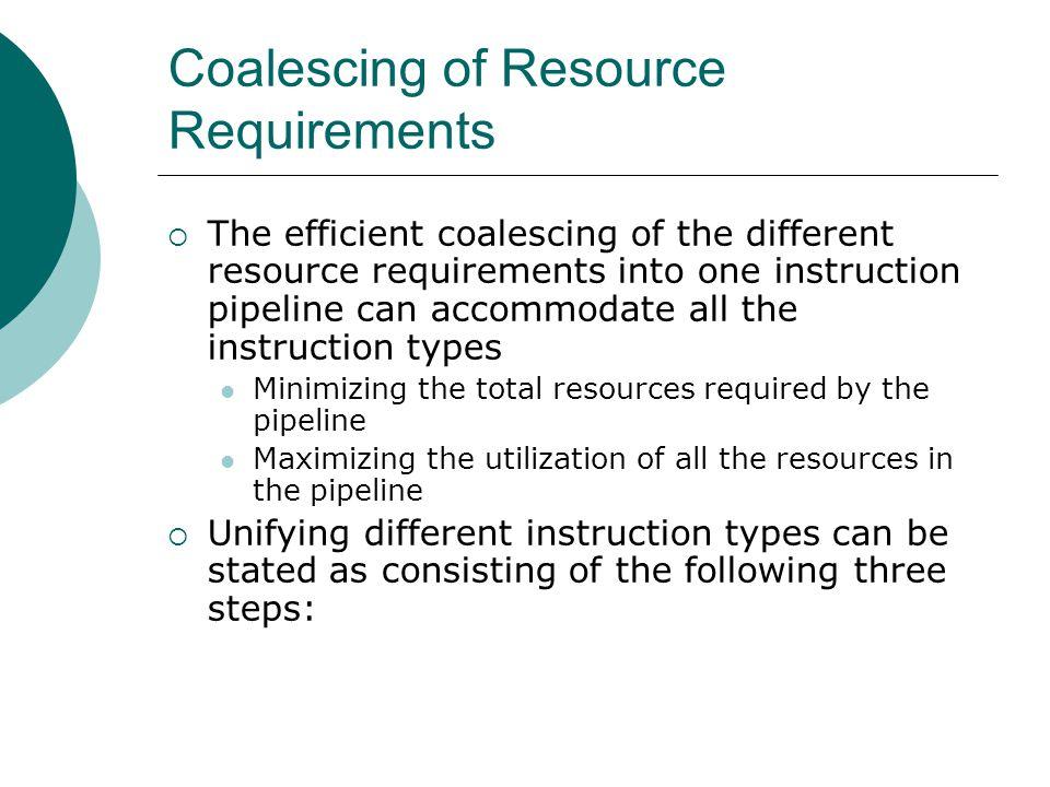 Coalescing of Resource Requirements