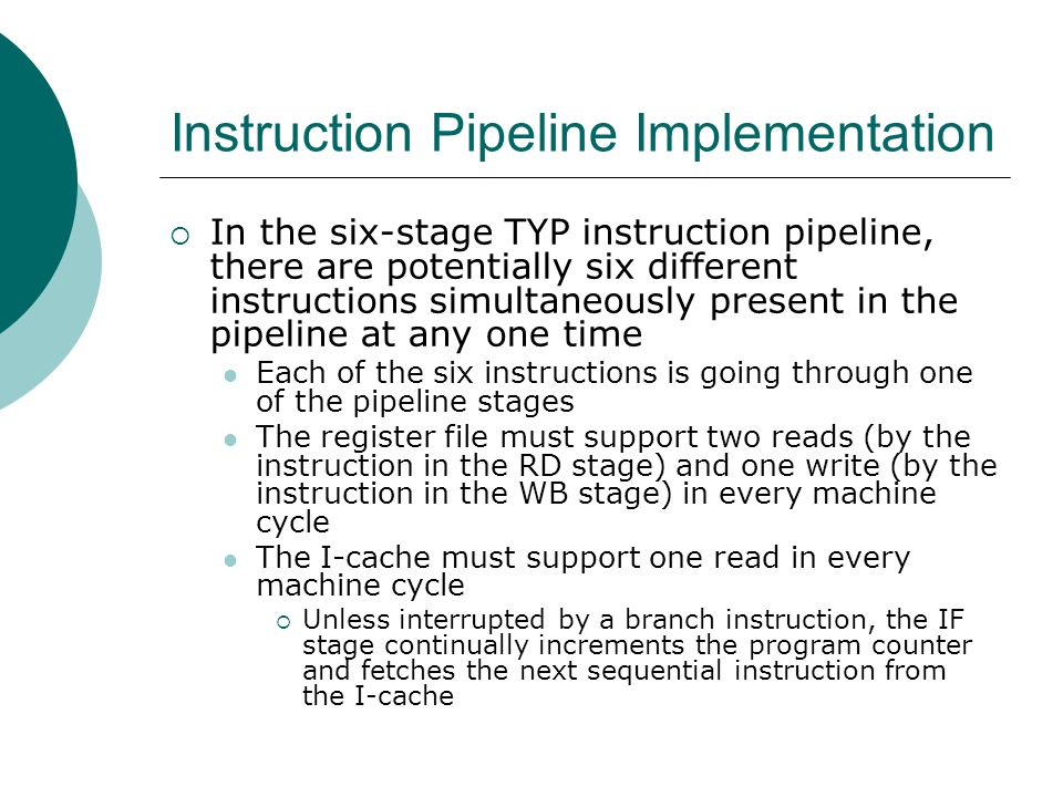 Instruction Pipeline Implementation