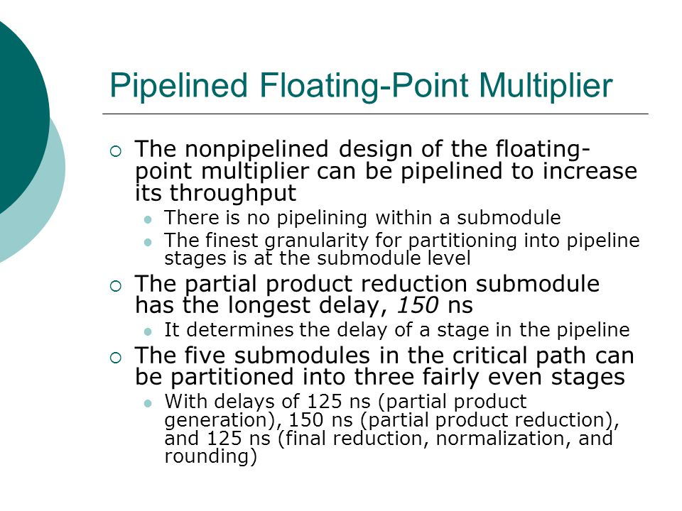 Pipelined Floating-Point Multiplier
