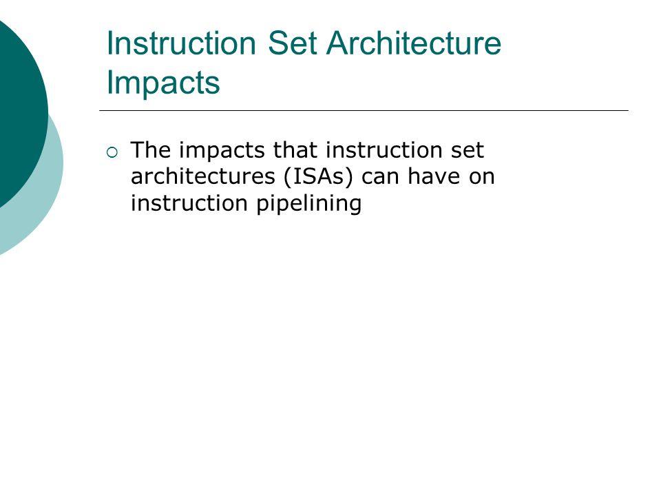 Instruction Set Architecture Impacts