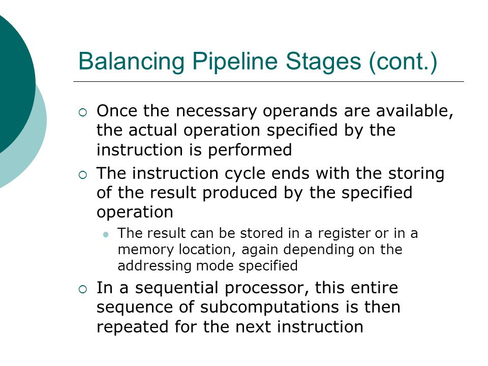 Balancing Pipeline Stages (cont.)