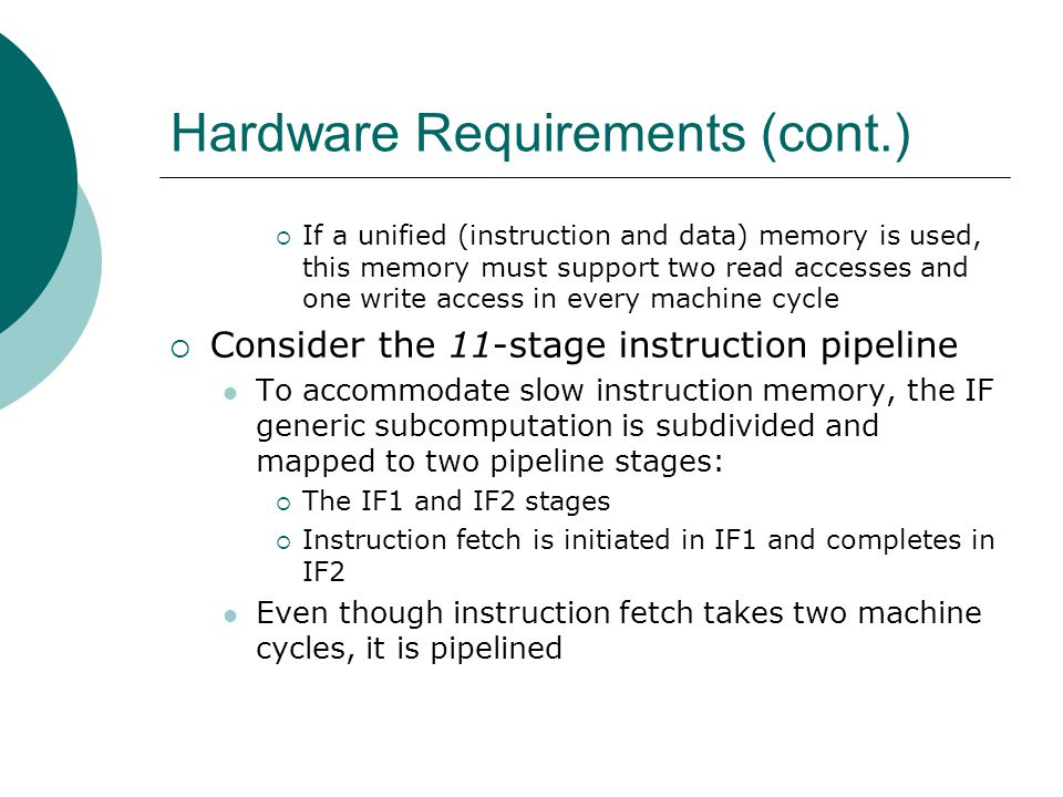 Hardware Requirements (cont.)