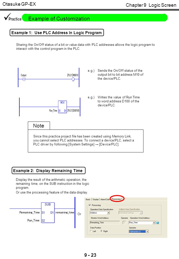 Otasuke GP-EX Example 3: Restrict Input Range of Alarm Time