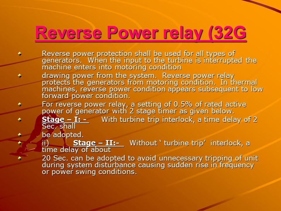 Reverse Power relay (32G