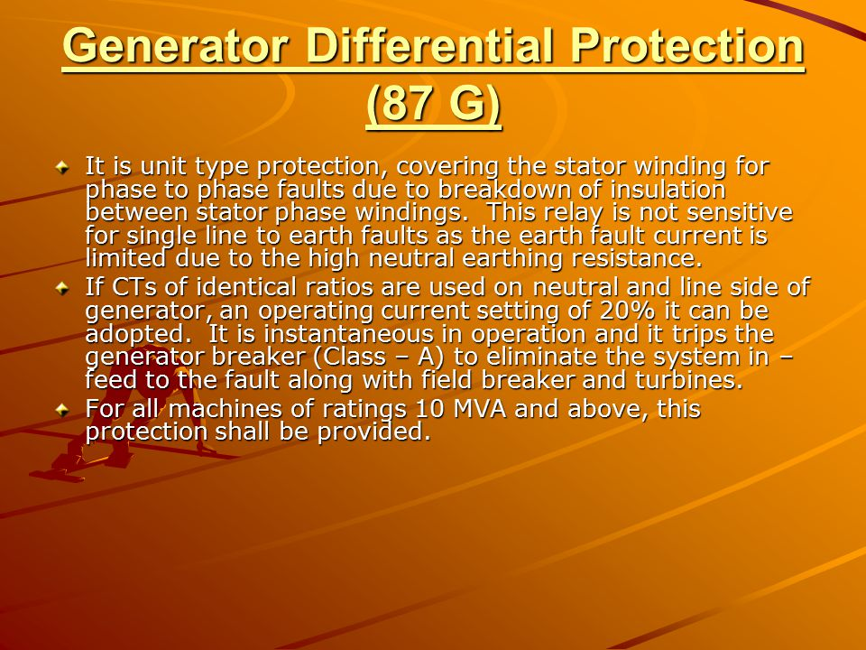 Generator Differential Protection (87 G)