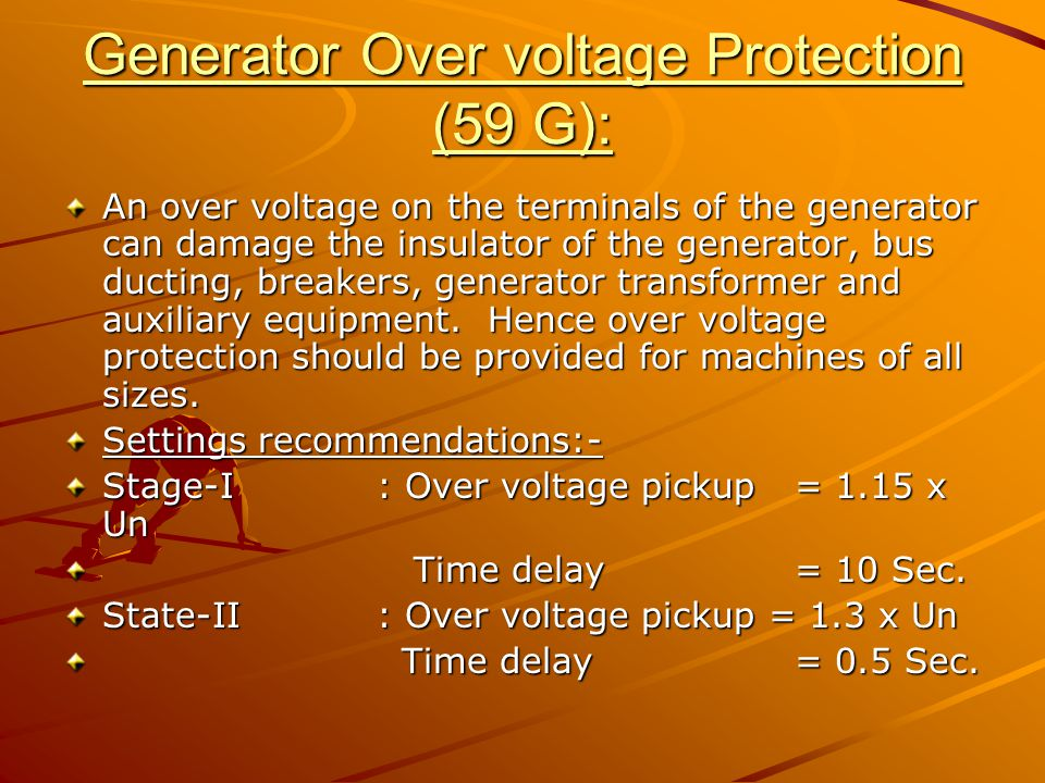 Generator Over voltage Protection (59 G):