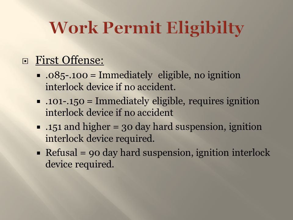 Work Permit Eligibilty