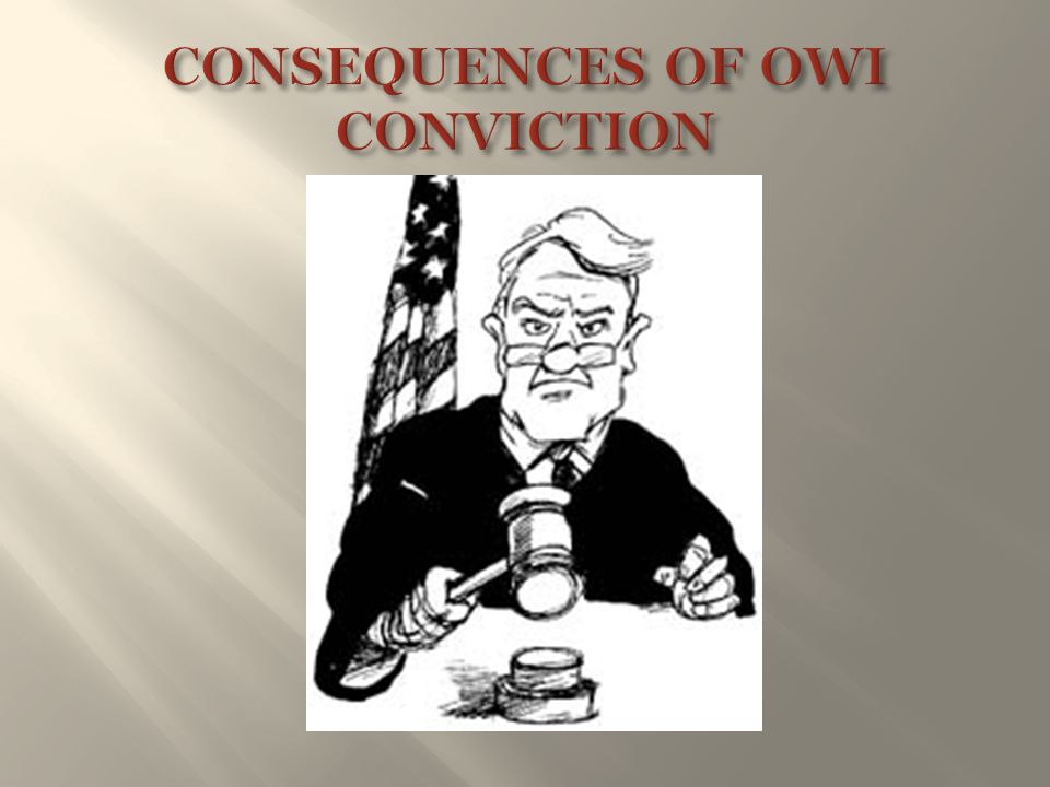 CONSEQUENCES OF OWI CONVICTION