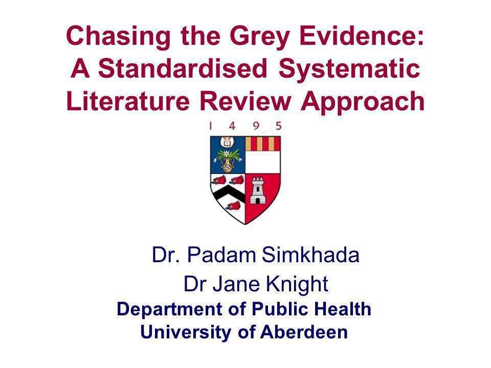 Dr. Padam Simkhada Dr Jane Knight