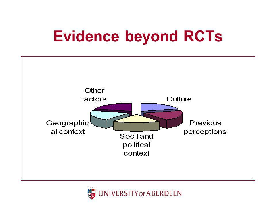 Evidence beyond RCTs