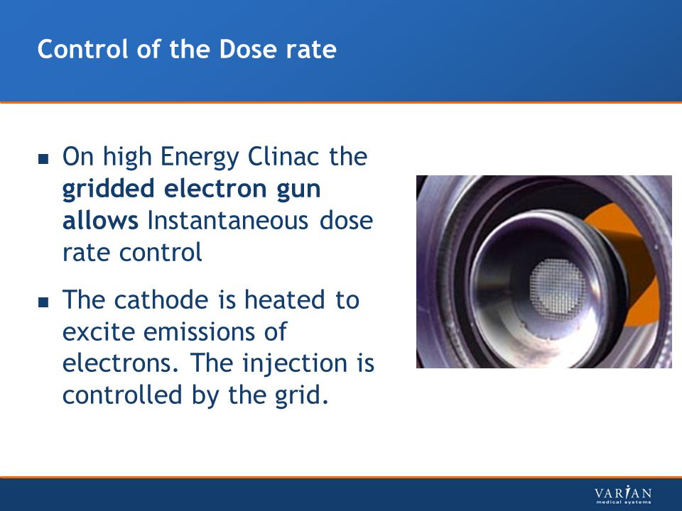 Control of the Dose rate