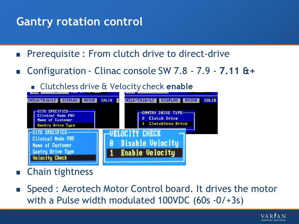 Gantry rotation control
