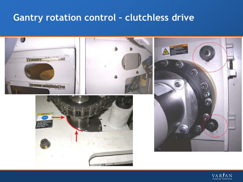 Gantry rotation control – clutchless drive