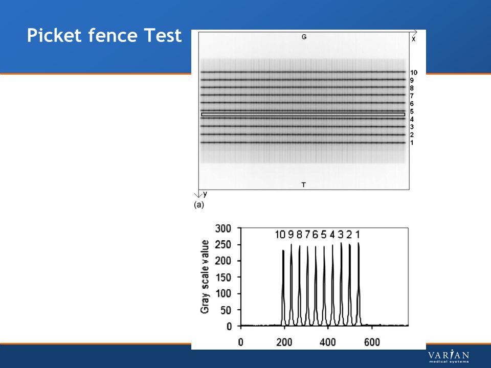 Picket fence Test