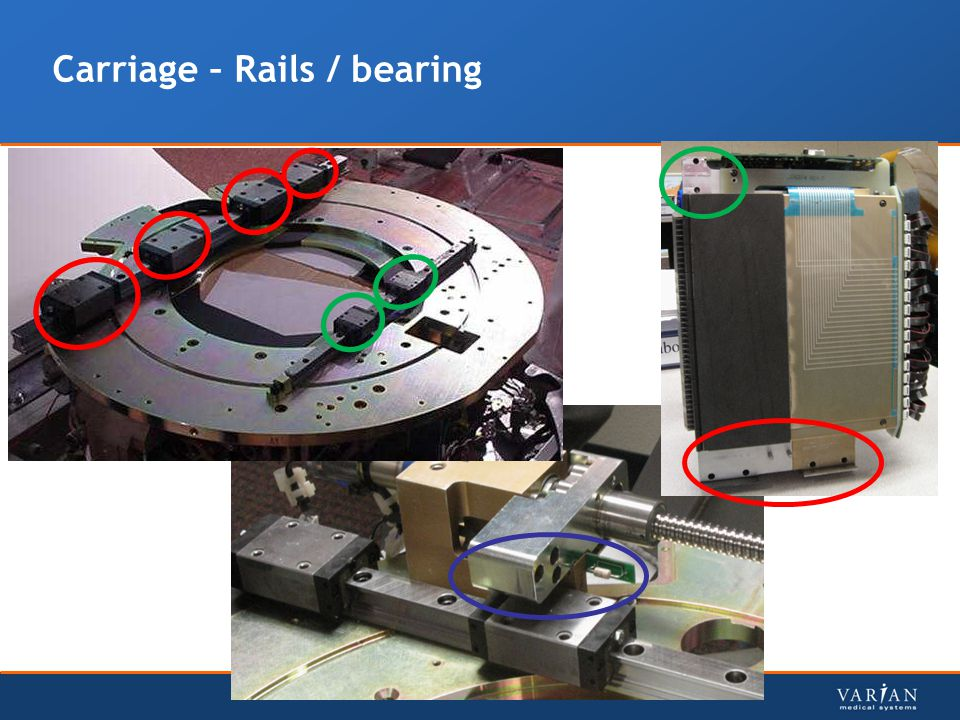 Carriage – Rails / bearing